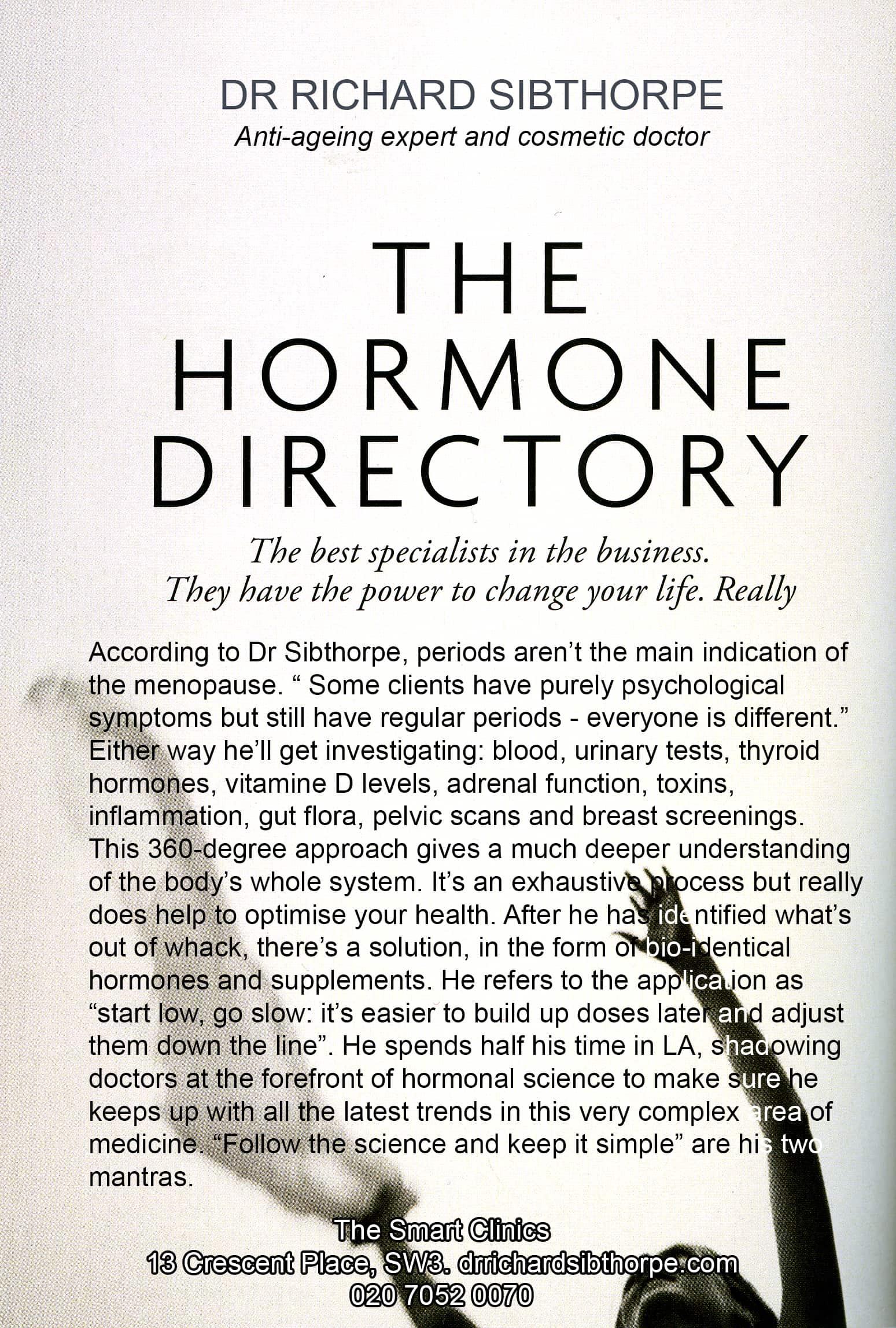 Tatler Hormone Directory 2017